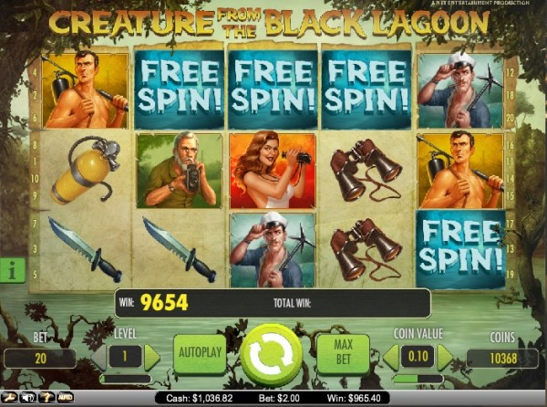Betsson Win on Creature From the Black Lagoon