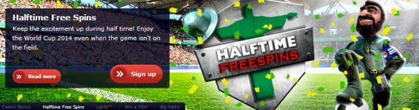 Redbet World Cup Half Time Free Spins