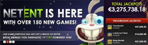BetAt Casino NetEnt Free Spins