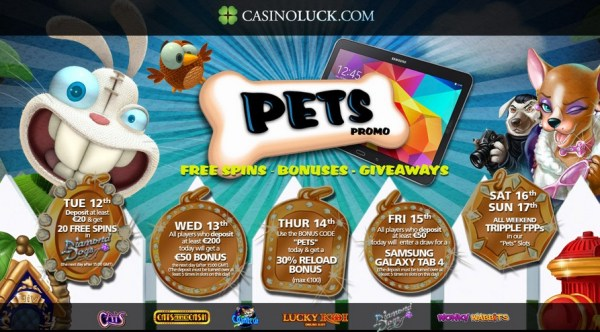 Casino Luck Pets Promotion