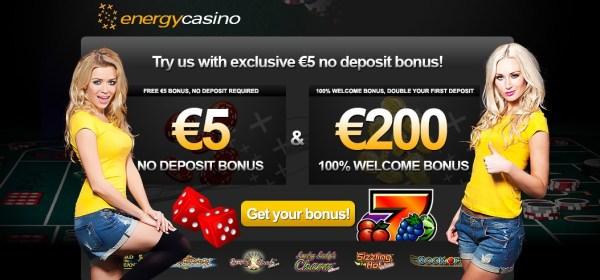 Energy Casino 5 Euro Free