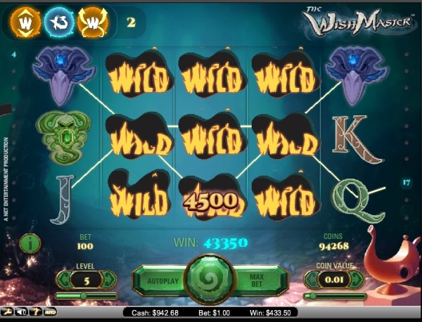 Maxino Casino Big Win on Wishmaster Slot