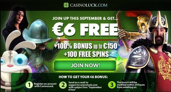 Casino Luck 6 Euro Free