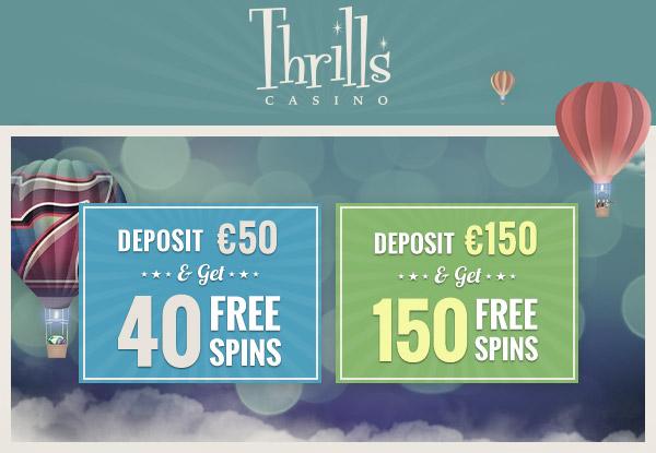 Thrills Casino 150 Free Spins
