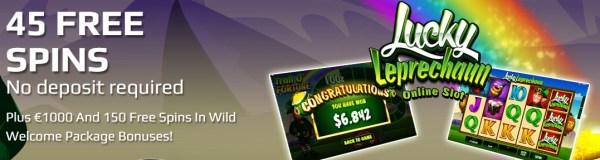 Go Wild 45 Free Spins No Deposit