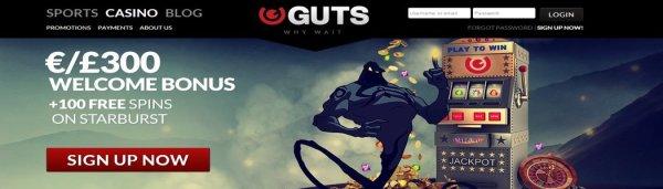 Guts Casino 15 Free Spins No Deposit