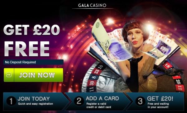 Gala Casino 20 Pounds No Deposit
