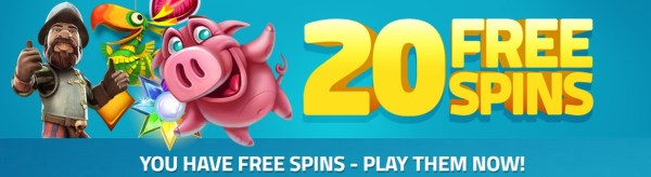 Lucky Dino 20 Free Spins No Deposit
