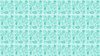 Teal Paisley Desktop Wallpaper