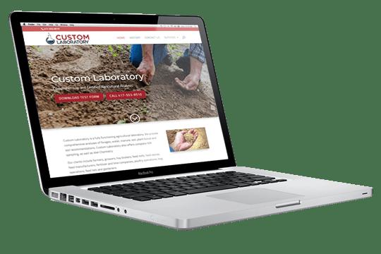 Website Design - Custom Laboratory