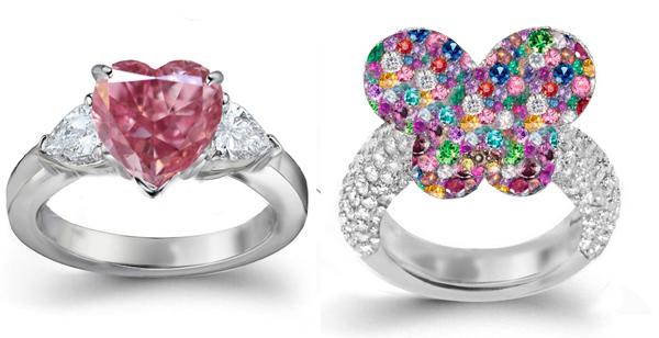 Modern 150CTW Solitaire Ruby Emerald Sapphire  Diamond