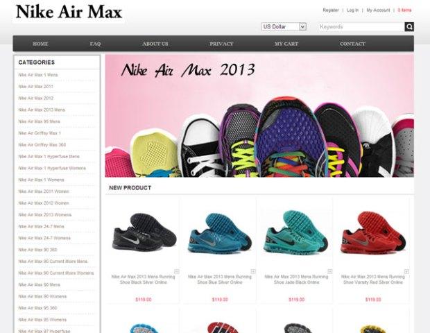 """Kamushop: """"Nike Air Max"""" webshop, de még Converse is van a kis reklámjukon :)"""