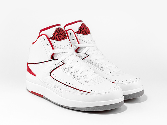 Air Jordan törióra: AJ II (White/White-Red)