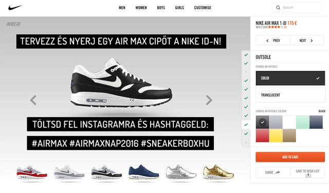 Tervezz és nyerj egy Air Max cipőt a Nike iD-ról!