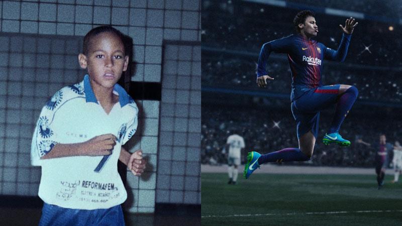 Neymar kis és kicsit nagyobb korában