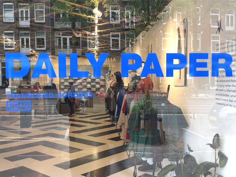 Helyi afrikai/holland streetwear márka: Daily Paper (Bilderdijkstraat 131)