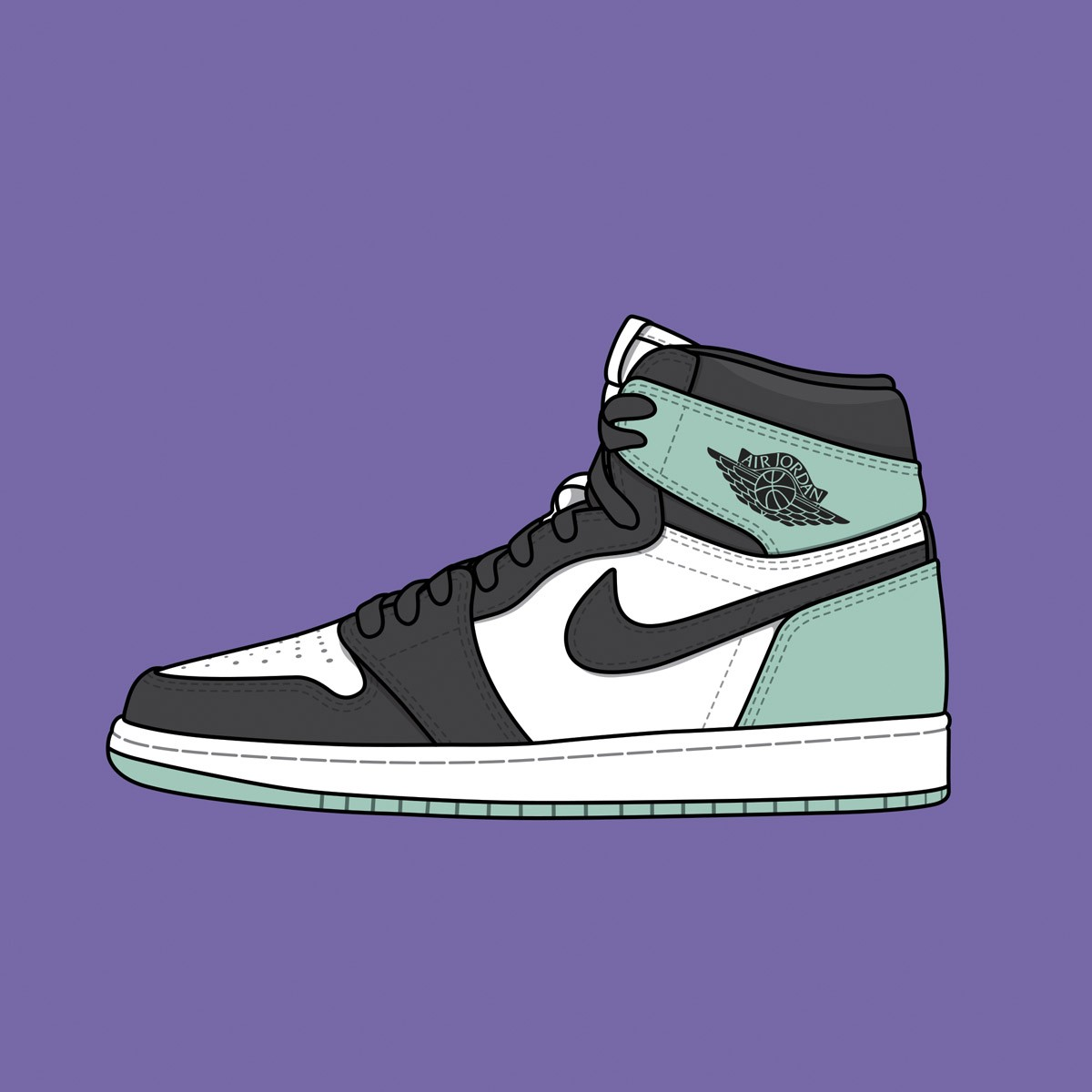 "Nike Air Jordan 1 ""Igloo"""