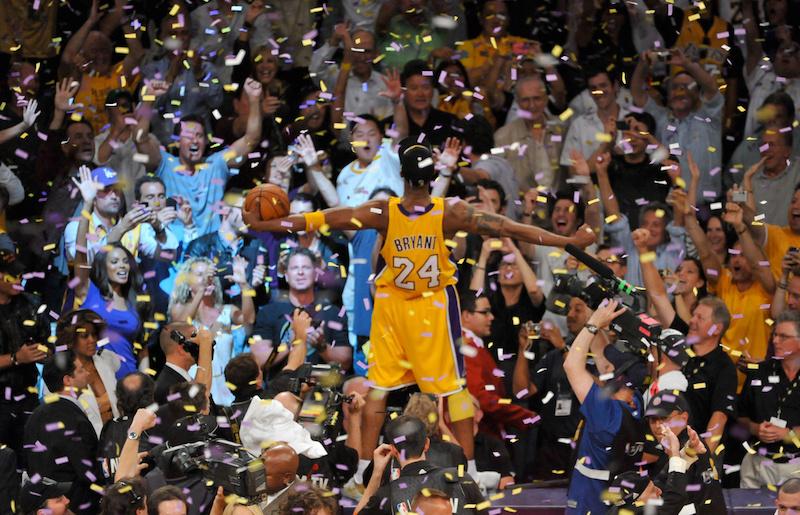 Ahogy a legtöbben emlékezhetünk Kobe -ra: győzelmet ünnepelve