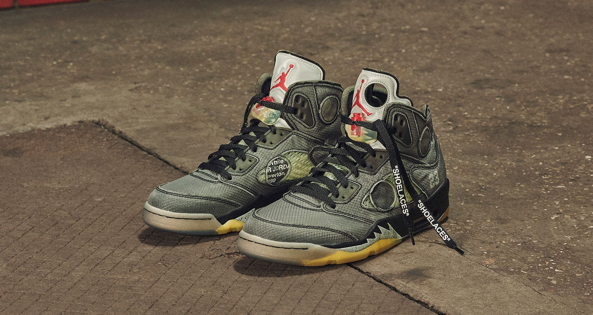 Off White Jordan-5 Black Metal