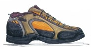 How to draw shoes - a hand rendering can be done in just a few minutes