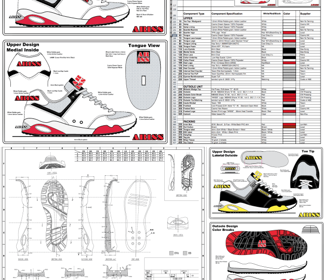 Shoe Designers Specification Pack