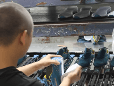 Shoe factory video- outsole assembly
