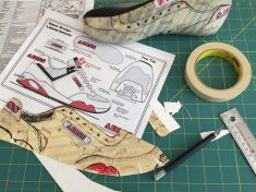 DIY make your own shoe pattern