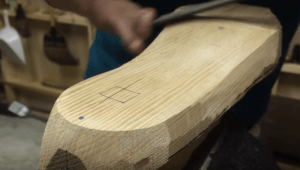 how to carve a wood shoe last