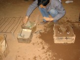 Sand mold for casting shoe lasts