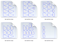 Paper pattern for the shoe last download