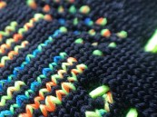 Zoom view of Knit shoe upper design