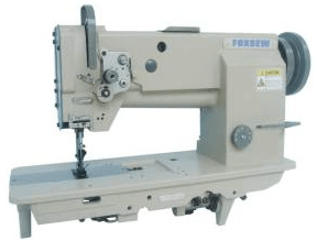 Flat bed sewing machines for a custom shoe factory