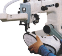 machine to attach the shoe bottom to the uppers