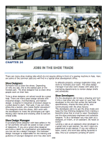 Chapter 23 : Jobs in the Shoe Trades Getting started in the trades There is a job for you