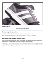 Chapter 24 : Footwear Quality Control How to grade shoe quality? Standard shoe inspection procedure