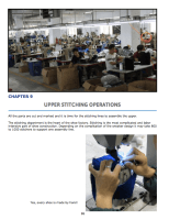Chapter 9 : Upper Stitching Operations The stitching room Stitching order of operations