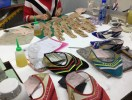 Here workers are building samples of next year's high fashion shoes