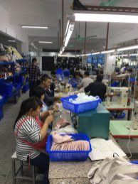 stitching line is just a few workers