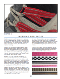 Webbing For Shoes  Options and uses of webbing.