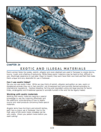Exotic and illegal materials  How to know if rare materials are safe and legal to use.
