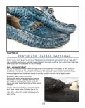 Exotic shoe materials