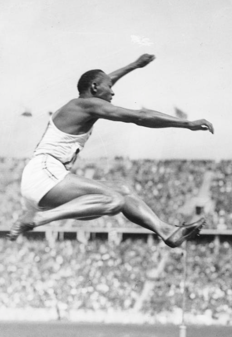 Jessie Owens in his Adidas shoes!