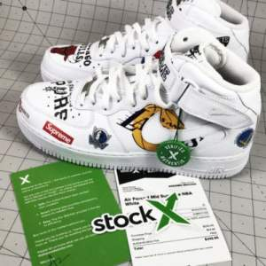How To Tell If Your Nike Air Force 1 Mid x Supreme NBA is Real Or Fake
