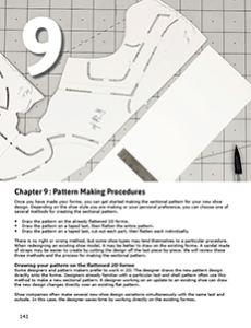 CHAPTER 9 : PATTERN MAKING PROCEDURES Step by step guide to footwear pattern making Creating sectional patterns for sports shoes and fashion shoes.