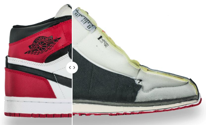 see Inside a Fake air Jordan 1
