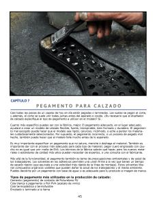 CAPÍTULO 7: PEGAMENTO PARA CALZADO Uso y aplicación de adhesivos en calzado.