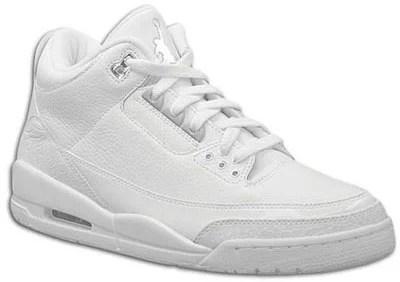 cdd00c2e14e Air Jordan Release Dates III Retro Pure White Metallic Silver