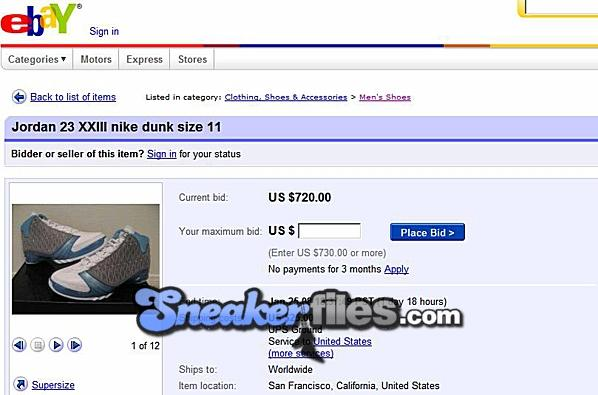 A size 11 pair of the über limited Air Jordan XX3 Premier White Titanium-University  Blue has popped up on eBay. The seller has a lousy feedback ... b230d57b6