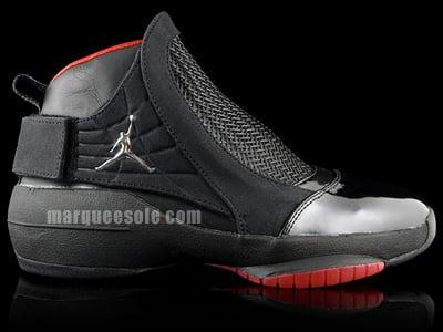 Air Jordan Retro 19 XIX Black  Chrome  Varsity Red