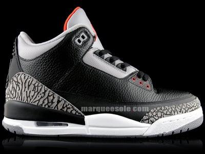 Air Jordan Retro 3 (III) Black / Cement Grey Countdown Pack